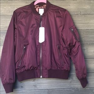 Gap Primaloft Bomber Jacket Burgandy S Small NWT